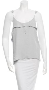 Alexander Wang Ruffle Sleeveless Top Pale Blue/Gray
