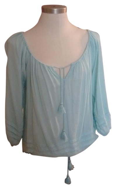 Denim & Supply Pale Blue Peasant. Top - 61% Off Retail 50%OFF