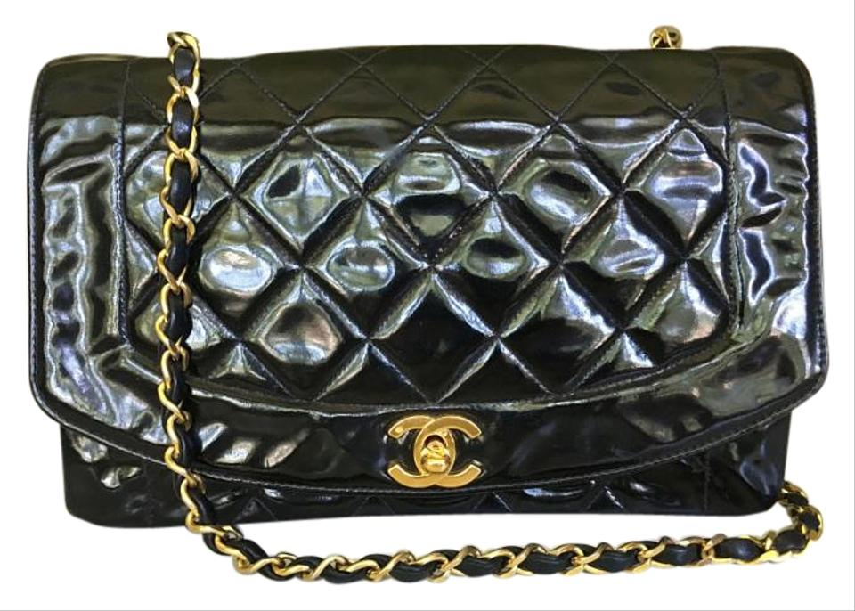 db1164bd15b362 Chanel Single Chain Flap Black Patent Leather Shoulder Bag - Tradesy