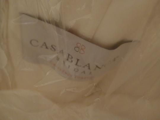 Casablanca Ivory Beadwork and Embroidery On Tulle #2035 Formal Wedding Dress Size 8 (M) Image 2