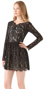 Lover short dress Black Tory Burch Dvf Halo on Tradesy