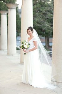 Wedding Veil Chapel Cathedral Ivory 90