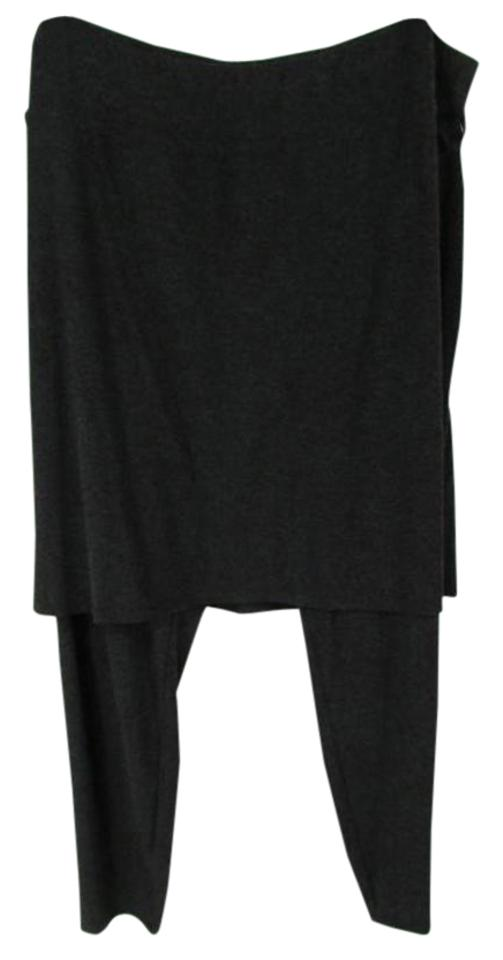 eb89046365d80 Eileen Fisher Skirted Ankle Solid Xl Stretchy Dark Gray Leggings Image 0 ...
