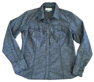 Columbia Sportswear Company Button Down Shirt Blue
