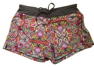 Athleta Athleta Colorful Paisley Swim Shorts