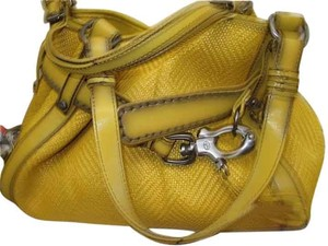 Francesco Biasia W/Buckle Summer Large Tote in Yellow