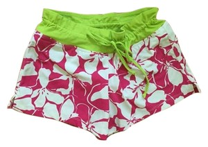 Athleta Athleta Pink and White Flowered Swim Shorts!