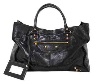 Balenciaga New Leather Satchel in Black