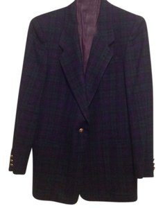 Burberry Hunter green and navy blue Blazer