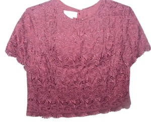 Talbots Occasion Macrame Special Timeless Designer Top burgundy