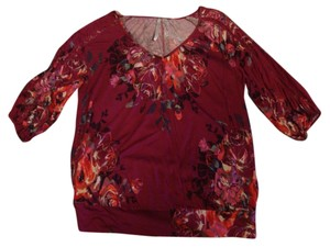 Lauren Conrad Top maroon/multi