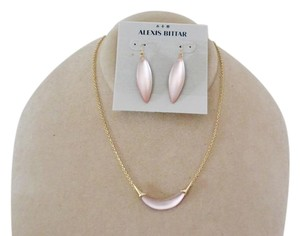 Alexis Bittar NEW Alexis Bittar Set of 2 pieces Necklace and Earrings Southern Peach BLUSH Lucite