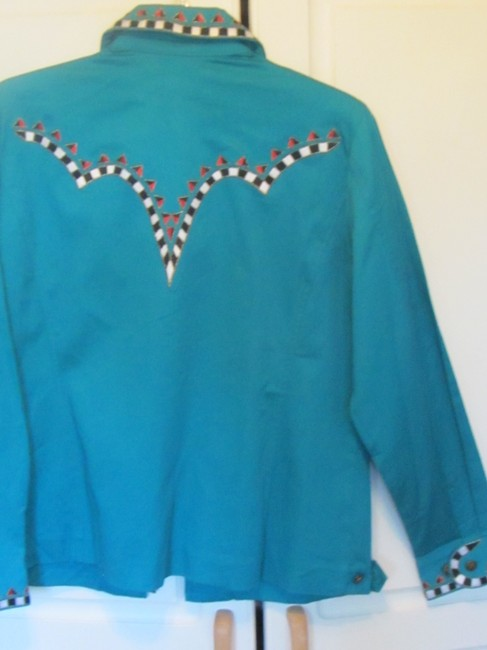 Bob Mackie wearable art green Jacket Image 3