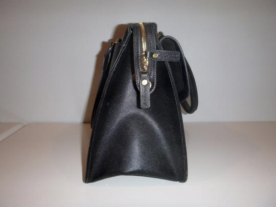 Raoul Leather Gold Hardware Tote in Black