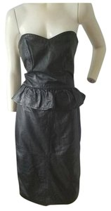 Berman's Leather Peplum Size 10 Dress