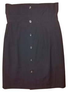Comme des Garçons High Waist Button Down Skirt Black