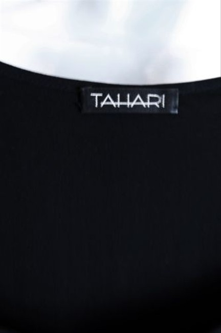 Tahari Beaded Evening Occasion Top Black