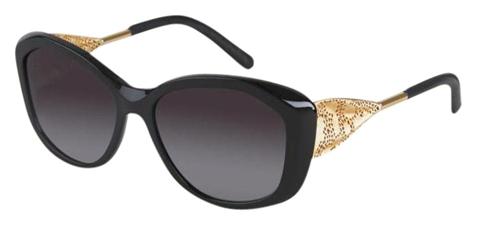 3db1462fff Burberry Burberry Gabardine Lace Collection Square Frame Sunglasses Black  Image 0 ...