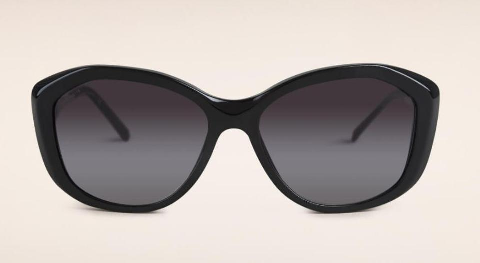 2cd1dff4c4 Burberry Burberry Gabardine Lace Collection Square Frame Sunglasses Black  Image 4. 12345