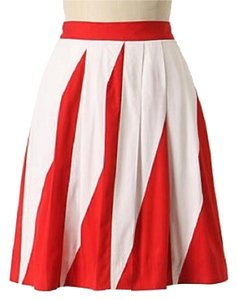Anthropologie Skirt red white