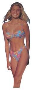 Other 2 PC Bikini Swimsuit Ladies Size L 12 - 14 Bright Print $85 Value
