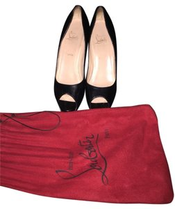 Christian Louboutin Peep Toe Black Pumps