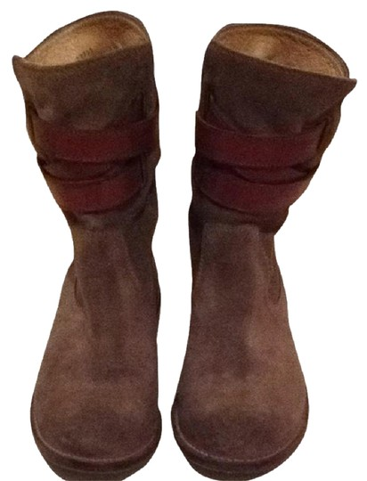 Frye Suede Olive Green Boots