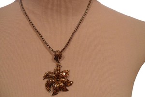 John Hardy JOHN HARDY 18K GOLD & STERLING SINVER X LARGE AYU FRANGIPANI DOT FLOWER W/ CHAIN