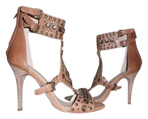 ALDO Rivots Stones Studded Tan BROWN Sandals