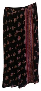 Forever 21 Maxi Skirt Black/Multi