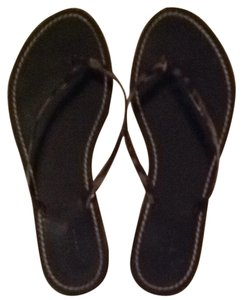 J.Crew Tortoise Shell Black Sandals