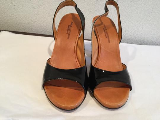 Paolo Lantorno Attractive Leather Black patent Sandals