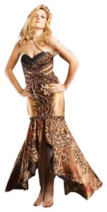 Frenchy Prom Cheetah High-low Dress