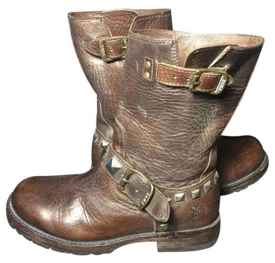 Preload https://img-static.tradesy.com/item/16473610/frye-brown-77199-rogan-leather-motorcycle-riding-engineer-studded-women-s-bootsbooties-size-us-55-re-0-1-540-540.jpg