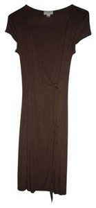 Ann Taylor LOFT short dress Brown Slinky Stretchy Wrap on Tradesy