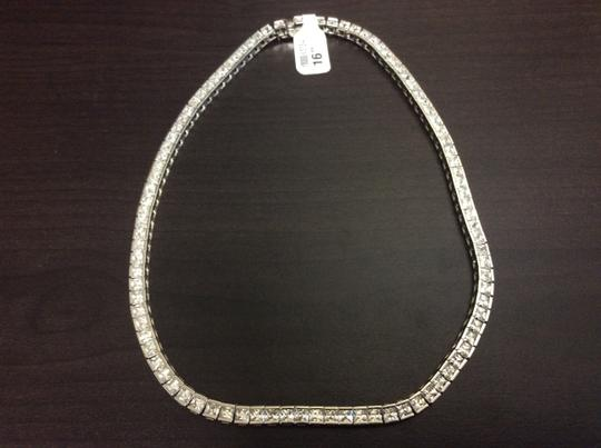 Other Y80000-N513-4 F aux Diamond Sterling Silver Necklace