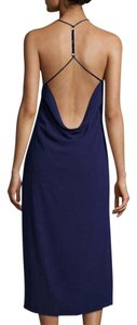 Halston Classic Open Back Dress