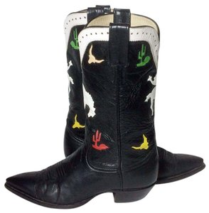 Larry Mahan Black Boots