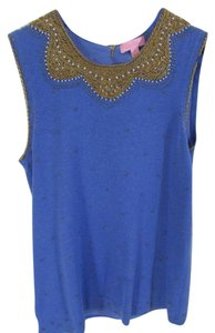 Lilly Pulitzer Embellished Top Blue