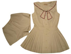 F. B. Horgan (Robinson's of California) Ladies Tennis Dress Size 10 Sailor Collar Pleated Skirt - F B Horgan