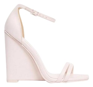 ASOS Homecoming Sandals Strappy Open Toe Pink Wedges