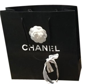 69b56951243188 Chanel Lot of 2 Paper Shopping Gift Bags Camellia Flower & Ribbon 13x13x5