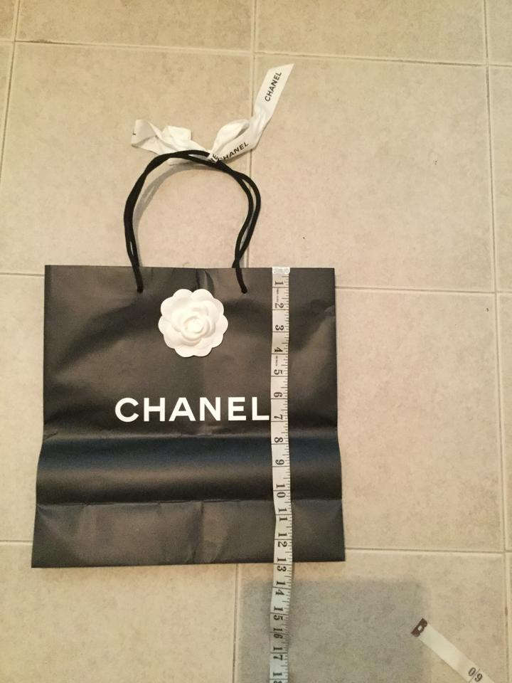 8689e00113ef Chanel Lot of 2 Paper Shopping Gift Bags Camellia Flower & Ribbon 13x13x5.  1234567891011
