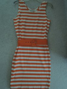 The Limited short dress orange and white striped on Tradesy