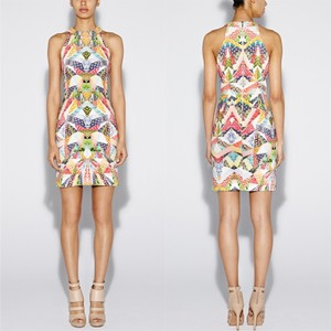Nicole Miller short dress Multi Print Sheath Colorful Spring Vibrant on Tradesy