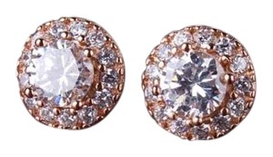 Other Gorgeous Rose Gold Filled Topaz Stud Earrings