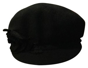 Nine West Nine West Flower Wool Knit Newsboy Hat