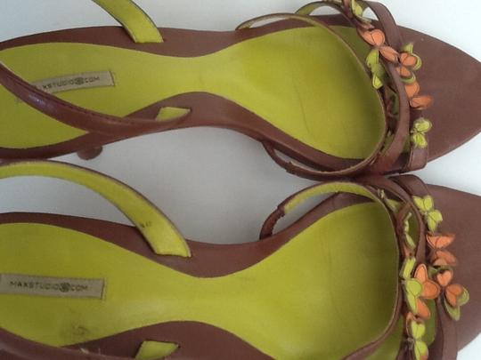 Max Studio Brown, Lime, and Orange Pumps