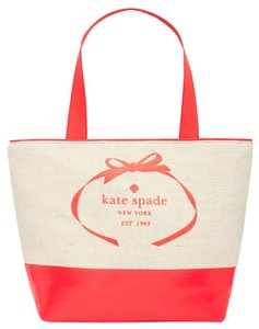 Kate Spade Canvas Large Tote in coral