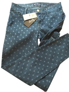 Guess Polka Dot Ankle Skinny Jeans-Medium Wash